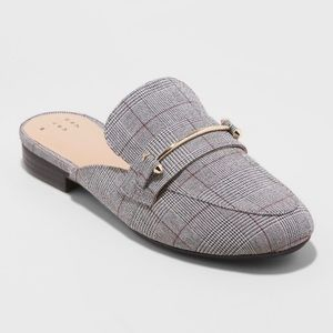 Remy Grey Plaid Mule - A New Day Size 7